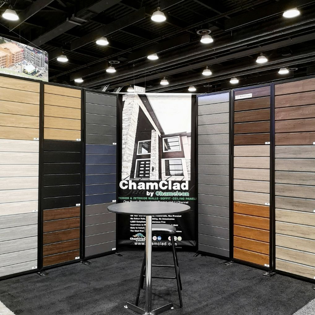 Chamclad Buildex 2020 Vancouver Booth 1217 Chameleon Cladding